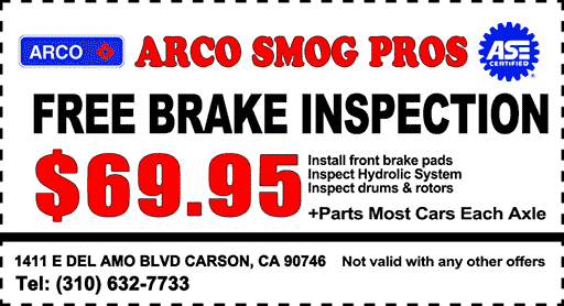 Free Brake Inspection Near Me >> Smog Shop Near Me   $29.75 Smog Check with Coupon   CARSON