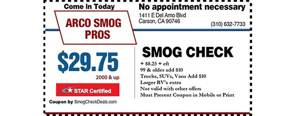 $29.75 Smog Check - STAR Station - Carson CA